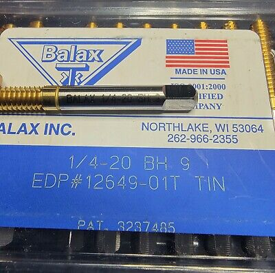 Balax Unused Qty 1 Tap 14-20 B H9 Tin Bottom Forming Right Hand