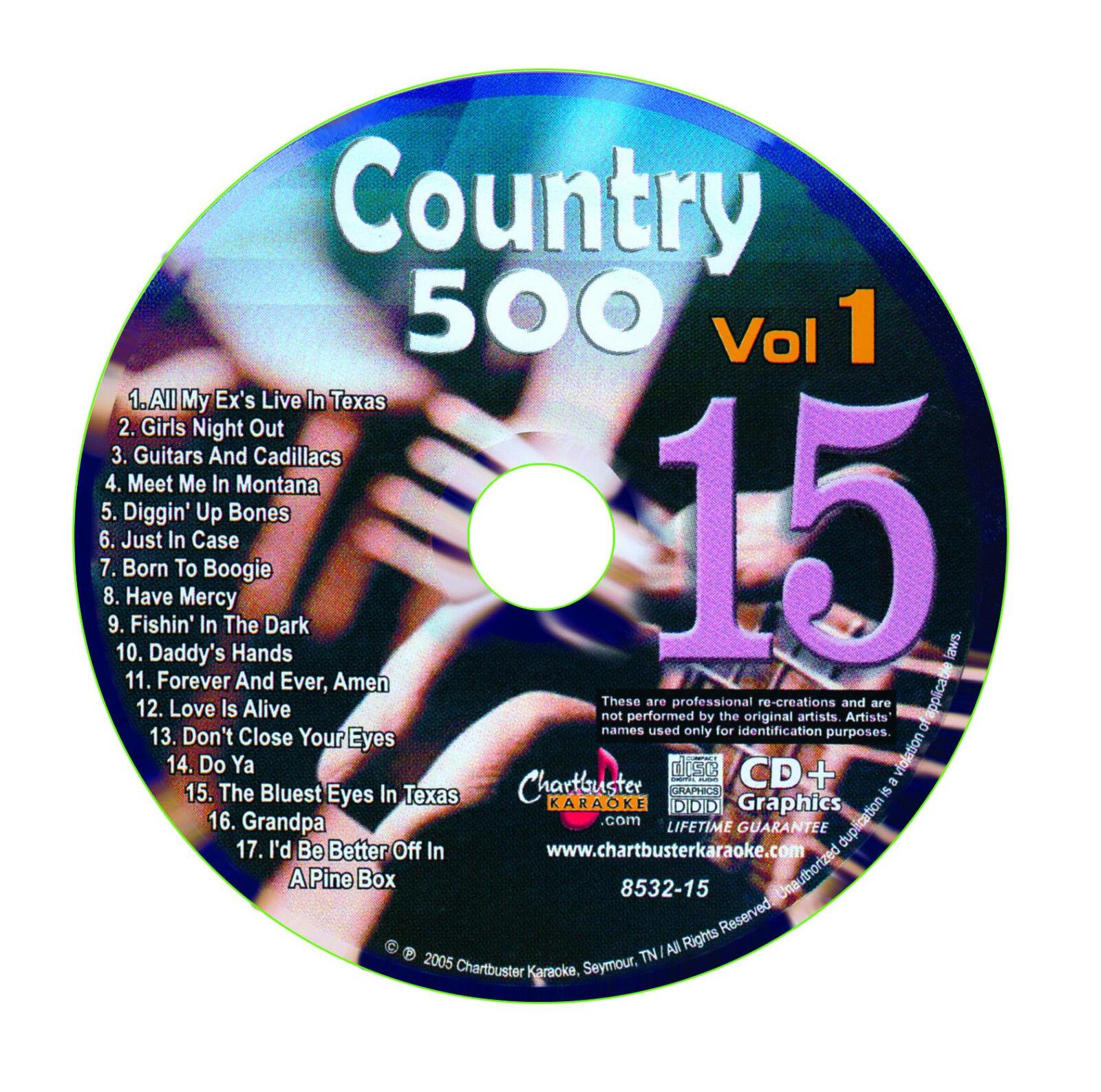 как выглядит KARAOKE CHARTBUSTER CD G COUNTRY 500 CB8532 VOL.1 DISC 15 фото