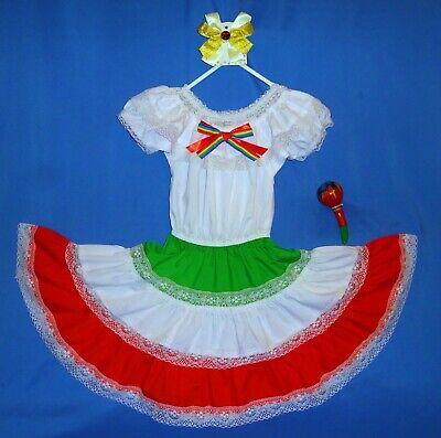Mexican dress girls-6-Cinco de Mayo fiesta costume-peasant-hair - Cinco De Mayo Girl Kostüme
