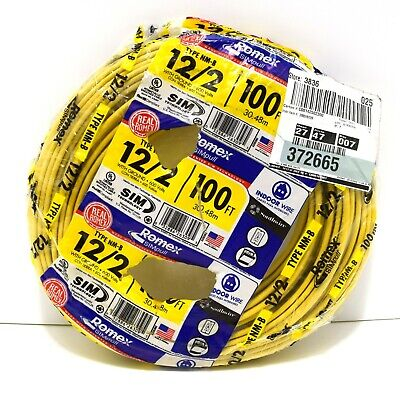 Southwire 100 122 With Ground Romex Brand Indoor Electrical Wire