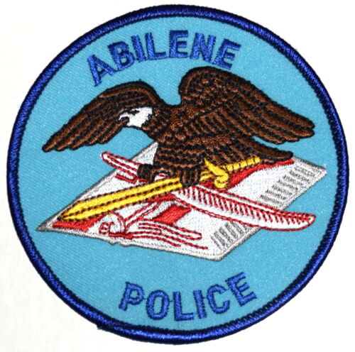 ABILENE TEXAS TX Sheriff Police Patch EAGLE BOOK FEATHER SWORD ~