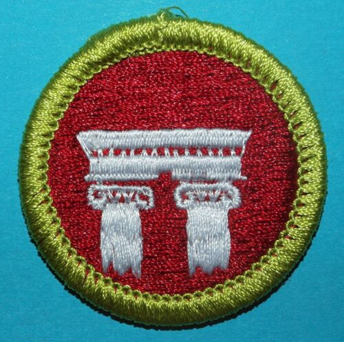 ARCHITECTURE TYPE L  MERIT BADGE - NEW - SINCE 1910 BACK  - BOY SCOUTS - Y450