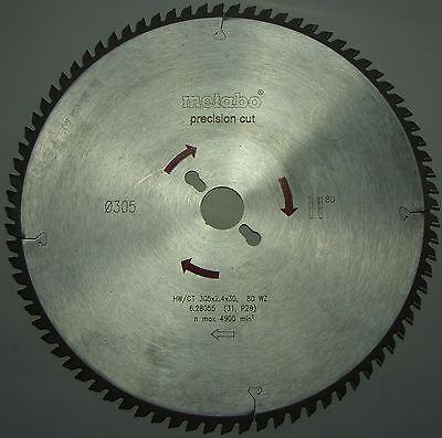 Metabo Kreissägeblatt HW/CT 305 x 2,4 x 30 mm 80 WZ 5° 6.28055 n max 4900 /min