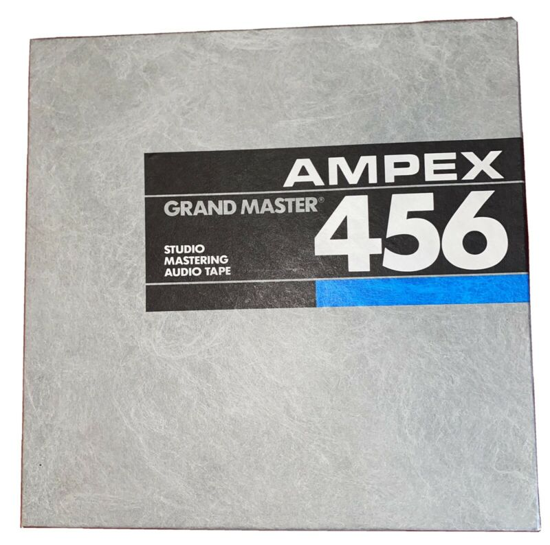 """AMPEX 456 Grand Master - Studio Mastering Audio Tape 1/2"""" X 2500' NEW!!"""