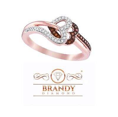 Brandy Diamond® Chocolate Brown 10K Rose Gold Heart Of My H