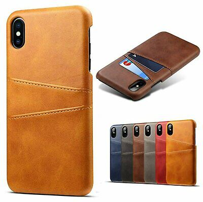 For iPhone X XS Max XR PU Leather Wallet Card Slot Holder Back Cover Case Cases, Covers & Skins
