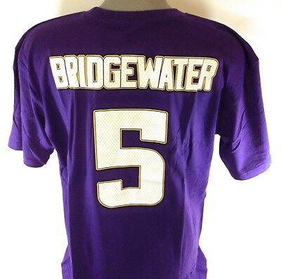 NEW Mens NFL B&T Football Majestic Minnesota Vikings Bridgewater #5 Tee - Minnesota Viking Football