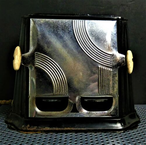 Vintage Art Deco Electric Sun Chief Model #680 2 Slice WORKING Toaster