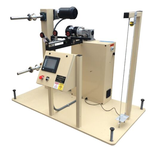 AMS Dual Shaft Extrusion Winder/Spooler/Take Up, Automatic Tension Control NEW