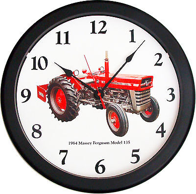 New 1964 Massey Ferguson Model 135 Tractor Wall Clock 14 Restored Vintage Air