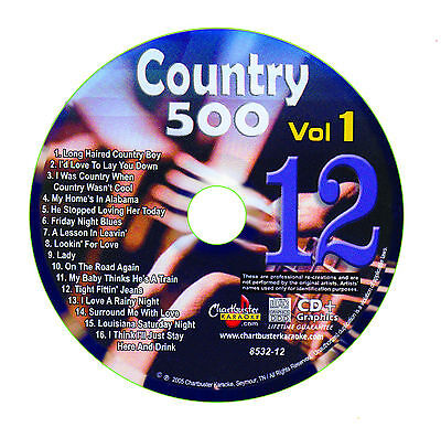 Karaoke Chartbuster Cd G Country 500 Cb8532 Vol 1 Disc   12