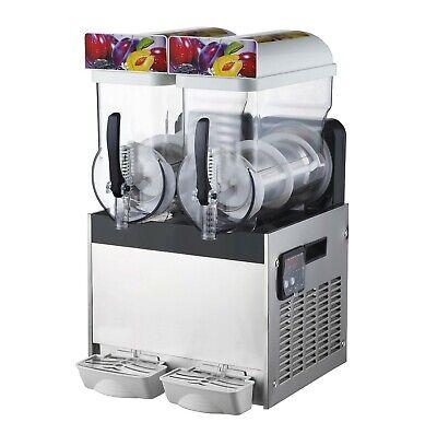 2-tank Commercial Frozen Drink Slush Machine Smoothie Maker Machine 220v