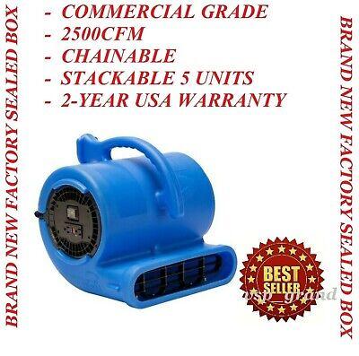 New B-air Commercial Industrial Air Mover Carpet Dryer Floor Fan Blower 2500 Cfm