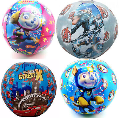 Inflatable Blow Up Kids Beach Ball; Paw Patrol, Avengers & Cars!