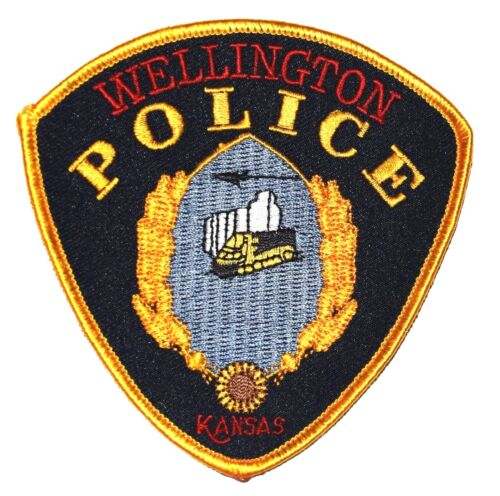 WELLINGTON KANSAS KS Police Sheriff Patch RR RAILROAD TRAIN LOCOMOTIVE ENGINE ~