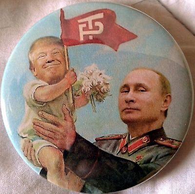 "2.25"" Anti Trump 2016 Vladimir Putin Baby Donald Pinback Button Badge"