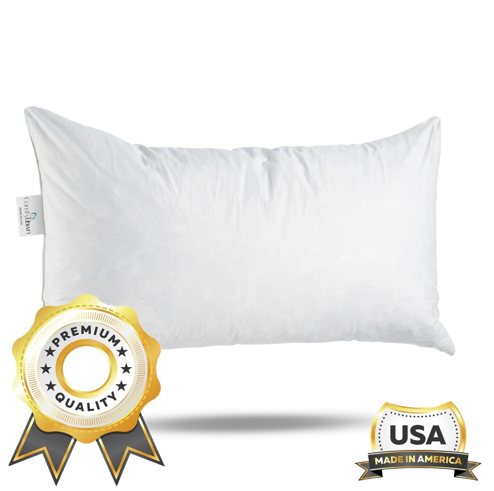 ComfyDown 95% Feather 5% Down, Rectangle Decorative Pillow I
