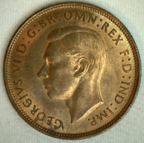 1937 Great Britain Penny Bronze Coin Uncirculated