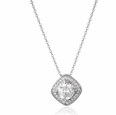 Gorgeous Silver Necklace Pendant Women White Sapphire Wedding Jewerly Gift Fashion Jewelry
