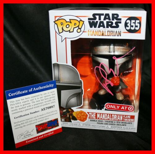 🔥 Pedro Pascal Signed Star Wars Mandalorian Target Exclusive Funko POP PSA JSA