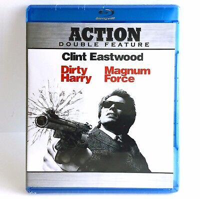 Dirty Harry Magnum Force (2-Disc Blu-ray Set, 2008) Brand New !  Clint Eastwood