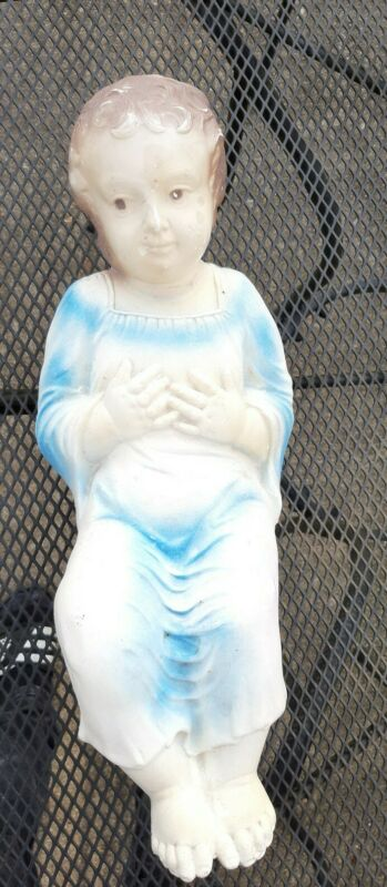 "Vtg Empire Blow Mold Baby Jesus 18"" Plastic"