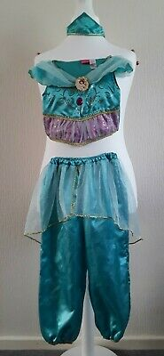 Worn Twice Childrens Princess Jasmine Costume 5-6 Years TU/Disney With Gold Lamp