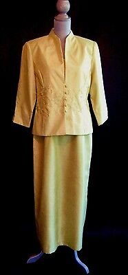Jessica Howard MOB Mother of the Bride Bead formal gown jacket dress suit 12 NEW