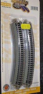 BACHMANN 44801 N SCALE NICKEL SILVER 11.25 RADIUS CURVED TRACK 6 PK  NEW NIP