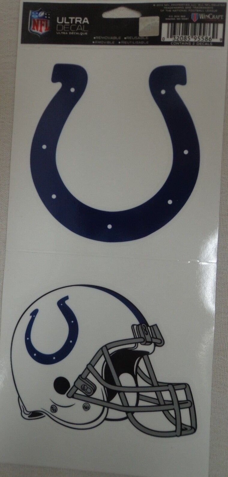NFL Ultra Decals 2 Pack Set Removable Reusable Sticker Wincraft Indianapolis Colts