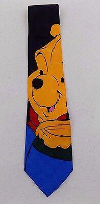"Disney - "" Pooh "" Men's Tie - 100% Silk - Hand Made"