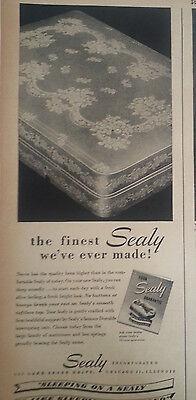 1948 Sealy Colchón Cama Dormitorio en una Nube Original Anuncio