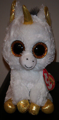 "Ty Beanie Boos ~ PEGASUS the 6"" Unicorn ~ European Exclusive NEW ~MWMT'S IN HAND"