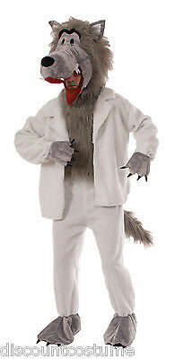 WOLF IN SHEEP'S CLOTHING MASCOT BIG BAD WOLF HALLOWEEN COSTUME MEN STANDARD SIZE (Wolf In Sheeps Clothing Costume)