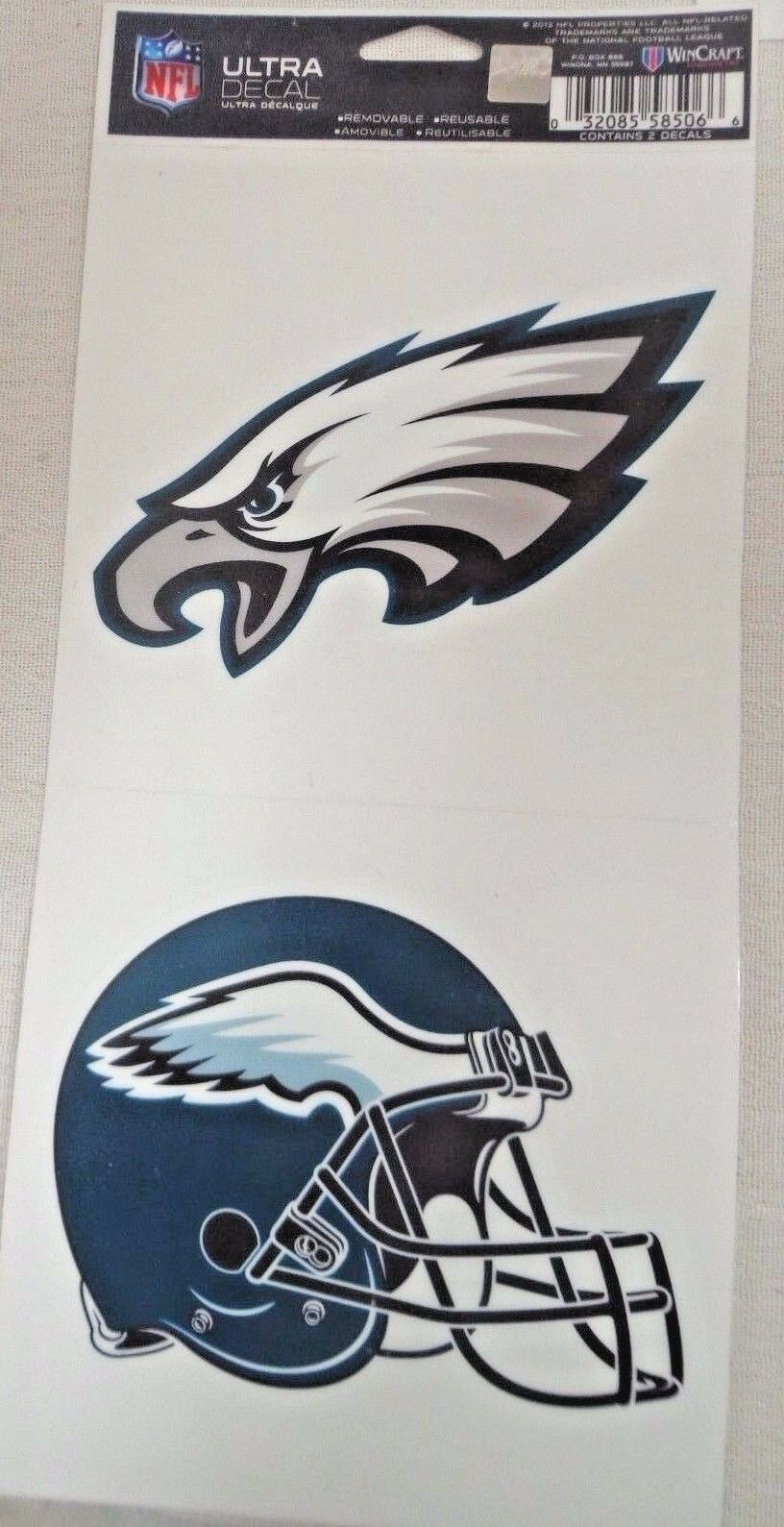 NFL Ultra Decals 2 Pack Set Removable Reusable Sticker Wincraft Philadelphia Eagles
