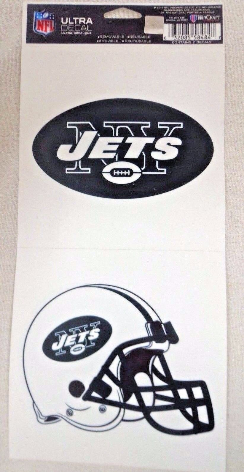 NFL Ultra Decals 2 Pack Set Removable Reusable Sticker Wincraft New York Jets
