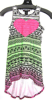 New! Flowers By Zoe Youth Girls Color Tribal Sequin Heart Maxi Dress - Sz 6