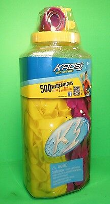 KAOS 500 WATER BALLOONS 2 DELUXE FAUCET FILLER ATTACHMENT Team Yellow Purple NEW