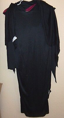 boys black robe gown 2 pc NEW HALLOWEEN COSTUME fits up to 8 to 10 burgundy NICE (Boys Black Robe)
