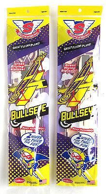 (2) BIPLANE Sopwith Camel Balsa wood Airplane glider GUILLOWS model kit #43 toy