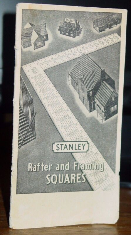 1946 Stanley Rafter and Framing Squares Catalog, Roofs Rise Pitch