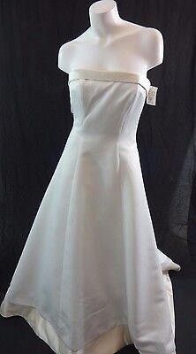 NWT MICHEALANGELO DAVIDS BRIDAL IVORY STRAPLESS WEDDING DRESS SIZE 10 BRAND NEW!