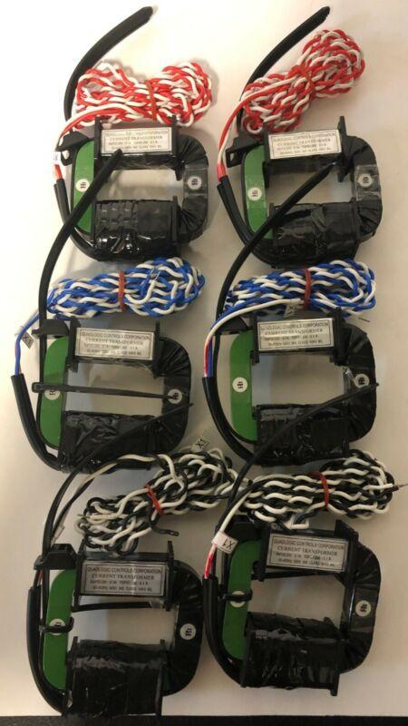 LOT OF 6 QUADLOGIC CONTROLS, CURRENT TRANSFORMER, CTSP200