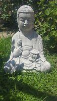 Statua Budda Buddha In Cemento E Polvere Di Marmo Esterno Giardino Zen E Interno - inter - ebay.it