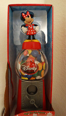 CHRISTMAS  MINNIE MOUSE GUMBALL DISPENSER MACHINE  9 1/2  INCHES TALL DISNEY