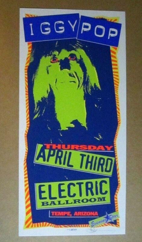 Iggy Pop 1997 Concert Poster Signed Mark Arminski