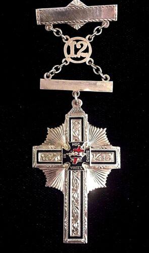 10k Yellow Gold Fraternal Knights Templar Medal Masonic