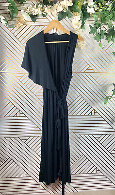 PAUL SMITH Black Label Crossover Wrap Dress Size Medium Midi Style
