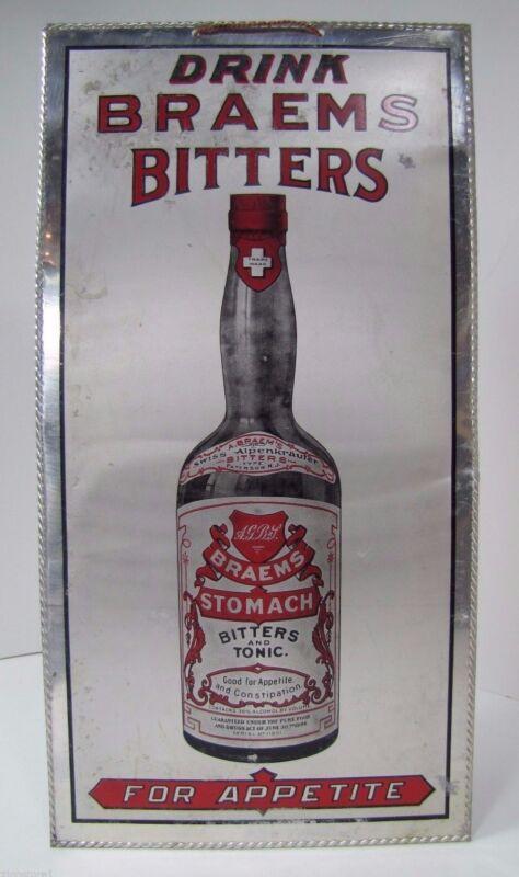 Antique Braems Bitters & Tonic Sign
