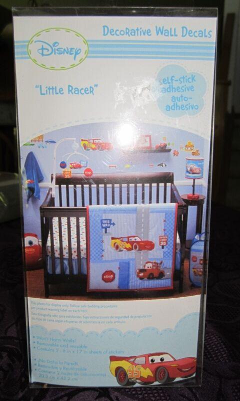 "Disney Cars ""Little Racer"" Decorative Wall Decals Nursery Decor Self-stick New"